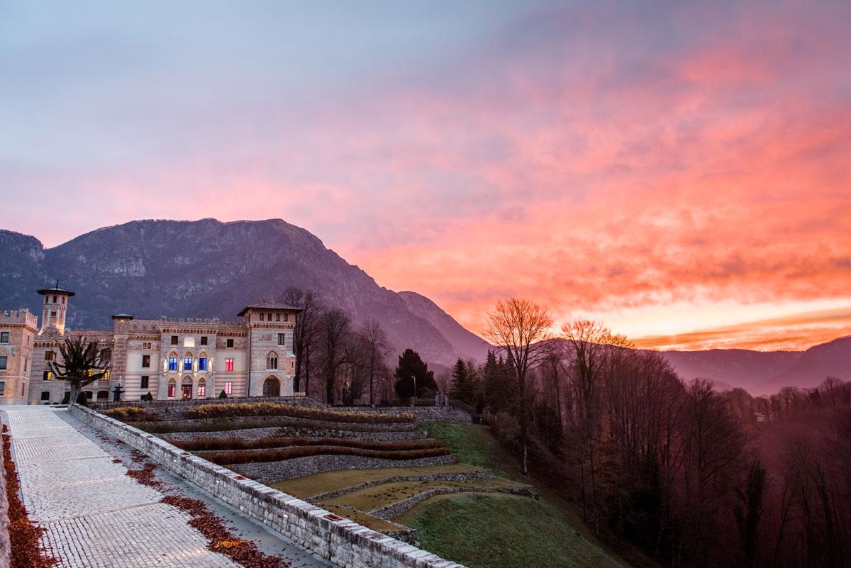 dawn at the ceconi castle