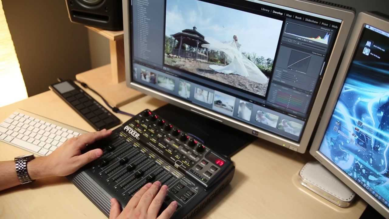 Photography workflow using a lightroom midi controller