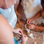 elegant bride in tuscany