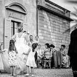elegant bride and groom in tuscany